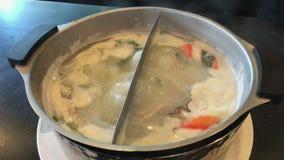 Shabu shabu sukiyaki καυτά βράζοντας τρόφιμα ύφους σούπας ιαπωνικά φιλμ μικρού μήκους
