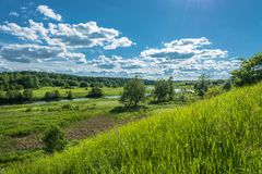 The Shacha river in Kostroma oblast, Russia. Royalty Free Stock Image