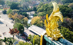 Shachi-Gawara Statue At Atop Osaka Castle In Afternoon Light. Royalty Free Stock Images