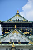 Shachi-Gawara statue (Roof tile in the form of the legendary dol. Phin-like fish) at atop Osaka Castle on July 10, 2015 in Osaka, Japan Royalty Free Stock Image