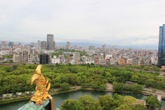 Shachihoko with Beautiful Scenery of Osaka Royalty Free Stock Images