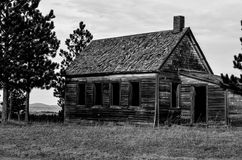 Shack abbandonato in bianco e nero 1 Fotografia Stock