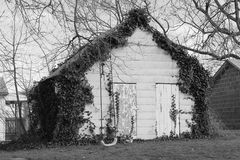 Shack in black and white Stock Photos
