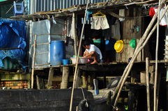 Shack home in Can Tho, Mekong delta, Vietnam Stock Photo