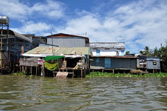 Shack home in Can Tho, Mekong delta, Vietnam Royalty Free Stock Photos