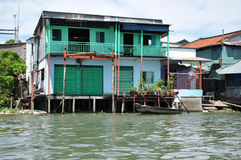 Shack home, house in Mekong delta, Vietnam Royalty Free Stock Image
