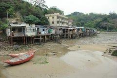 Shack in Ma Wan, Hong Kong. Traditional shack / hut build on stilts above the tidal flats of Ma Wan, Hong Kong Stock Photos