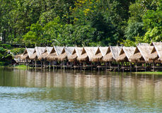 Shack. For relaxation beside catchment in Chiang Mai ,Thailand stock images