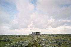 Shack in rugged landscape Stock Photos