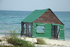 Shack by sea Royalty Free Stock Image