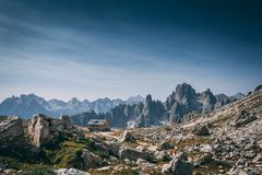 Mountain Shack. Shack on Tre Cime accent, Trentino, Italy Royalty Free Stock Photography