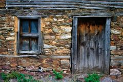 Shack, Wall, House, Stone Wall stock photos