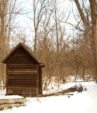 Shack in the woods royalty free stock photo