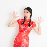 Shacked Asian chinese girl Stock Image