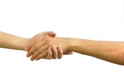Shacking Handhelfende Hand Lizenzfreie Stockbilder
