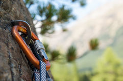 Shackle for climbing Stock Photography