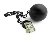 Shackle dollar Stock Image