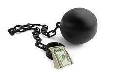 Shackle dollar. Isolated on a white background Stock Image
