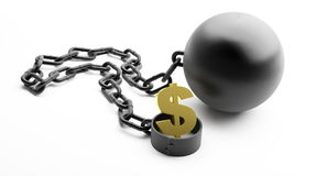 Shackle dollar symbol Royalty Free Stock Images