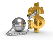 Shackle dollar symbol Royalty Free Stock Photography