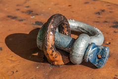 Shackle with eye Stock Images