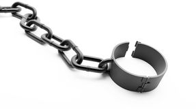 Shackle open Stock Photo