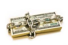 Shackled Stapel Dollar Stockbilder