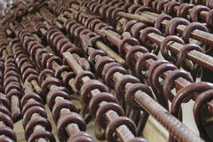 Shackles. Used to constrain prisoners in a Cambodian prison Royalty Free Stock Image