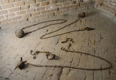 Shackles in Old Prison Royalty Free Stock Image