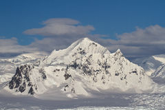 Shackleton Mountain in the mountain range on the Antarctic Penin Royalty Free Stock Images