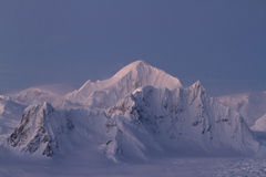 Shackleton Mountain ridge in the Antarctic Peninsula winter even Stock Image