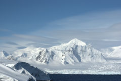 Shackleton Mountain in the west of the Antarctic Peninsula on a Royalty Free Stock Photography