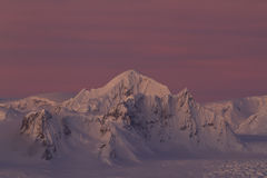 Shackleton peak in a chain of mountains in the Antarctic Peninsu Royalty Free Stock Images