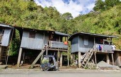 Shacks at the Banaue village in Ifugao, Philippines Royalty Free Stock Photos
