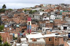 Slum, neighborhood of sao paulo, brazil Stock Photography