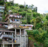 Shacks on the hill in Ifugao, Philippines Stock Photo