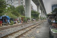 The shacks in Bangkok stock images