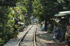 Railroad tracks in Bangkok Stock Images