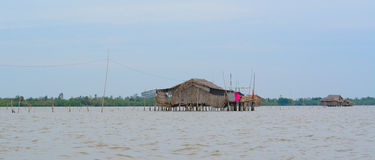 Shacks on the sea Royalty Free Stock Images