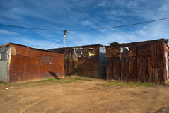 Shacks in township Royalty Free Stock Photos