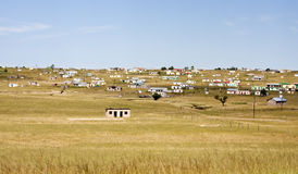 Shacks in Transkei South Africa corrugated iron Royalty Free Stock Image