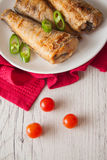 Shad with tomato and chilli Royalty Free Stock Photos