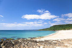 Shadao beach in the kenting national park stock photo