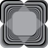 Shaddows gris de la vue quatre abstraits comprenant le noir Photos stock
