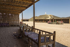 In the shade of Beduin village near Hurghada, egypt royalty free stock photos