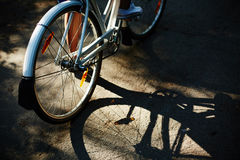 Shade of bicycle Stock Photo