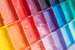 Shade colours on palette Stock Photos