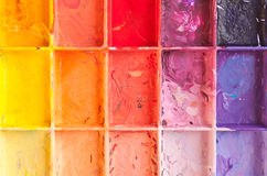 Shade colours on palette Stock Images