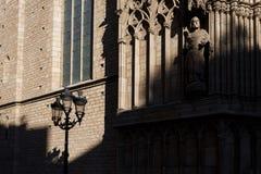 Shade on the facade of church, Barcelona Royalty Free Stock Photography