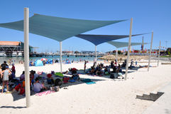 Shade at Hillarys Boat Harbour Royalty Free Stock Image